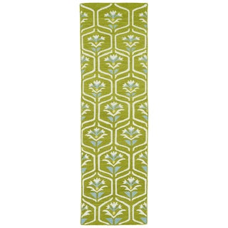 Hollywood Wasabi Flatweave Rug (2'6 x 8')