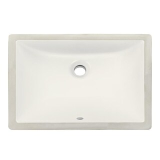 Ticor Almond Vitreous Porcelain Bathroom Sink