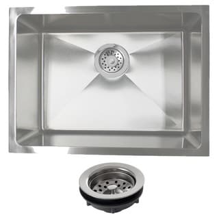 Phoenix PLZ10BG-REG 23-inch 18-gauge Stainleess Steel Single Bowl Undermount Kitchen Sink