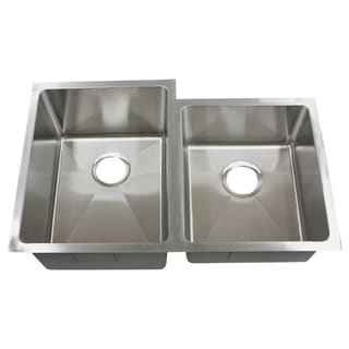 Phoenix PLZ20BG 32-inch 18-gauge Stainless Steel Double Bowl Undermount Kitchen Sink