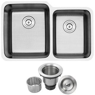 Ticor 1205BG-BASK 32-inch 16-inch Stainless Steel Undermount Double Bowl Kitchen Sink