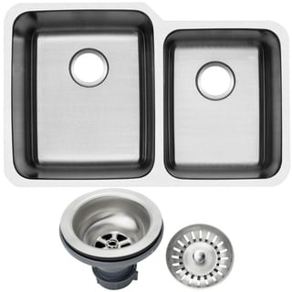 Ticor 1205BG-DEL 32-inch 16-gauge Stainless Steel Undermount Double Bowl Kitchen Sink