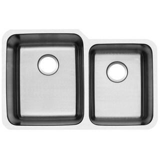 Ticor 1205BG 32-inch 16-gauge Stainless Steel Undermount Double Bowl Kitchen Sink