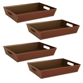 Wald Imports Brown Paperboard Tray (Set of 4)