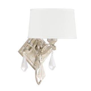Capital Lighting Harlow Collectiion 1-light Silver Quartz Wall Sconce