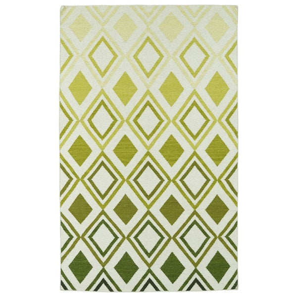 Hollywood Green Ombre Flatweave Rug (9' x 12') - 9' x 12'