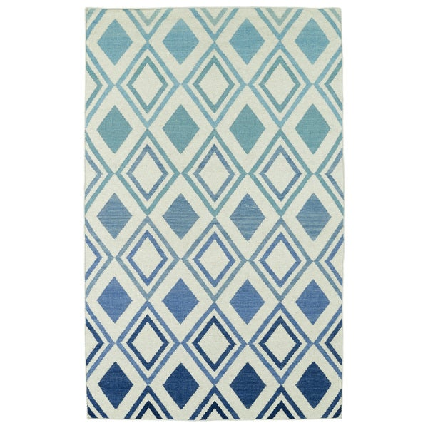 Shop Hollywood Blue Ombre Flatweave Rug 8 X 10 Free