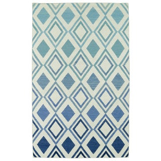 Hollywood Blue Ombre Flatweave Rug (8' x 10')