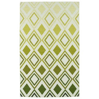 Hollywood Green Ombre Flatweave Rug (8' x 10')
