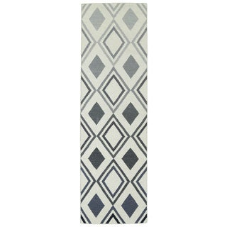 Hollywood Grey Ombre Flatweave Rug (2'6 x 8')