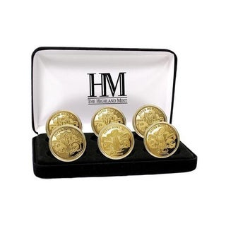 NFL Pittsburgh Steelers 6-time Super Bowl Champions Gold Game Coin Set