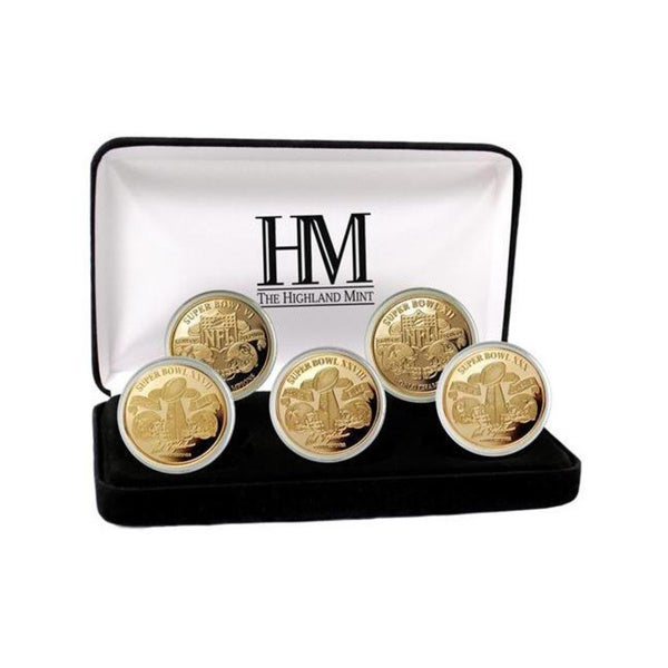 NFL Dallas Cowboys 5-time Super Bowl Champions Gold Game Coin Set