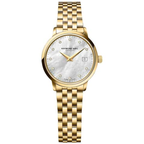 Raymond Weil Women's 5988-P-97081 Toccata Gold PVD Diamonds Watch