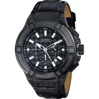 Guess Men's Rigor Black Chronograph Watch
