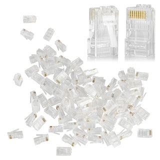 INSTEN Clear RJ45 CAT5 CAT5e CAT6 Network Cable Modular Plug Adapter (Pack of 100)