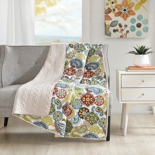 Mi Zone Asha Quilted Reversible Throw - Multi-color