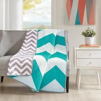 Mi Zone Aries Quilted Oversized Reversible Throw