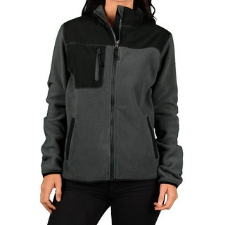 Hartwell Women's Grey/ Black Zip Fleece Outdoor Jacket