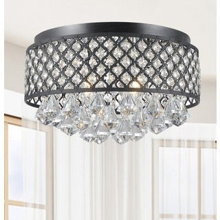 Candice 4-light Antique Black Flush Mount Chandelier
