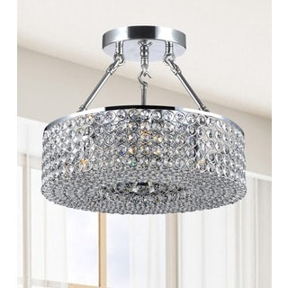 Francisca 3-light Round Chrome Semi Flush Chandelier