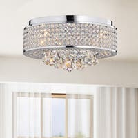 The Lighting Store Francisca 4-light Chrome Iron Round Flush Mount Chandelier