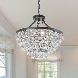 Elsa 4-light Antique Black Chandelier