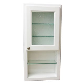 36-inch Regal Series In-the-wall Cabinet and Shelf with Rain Art Glass Door