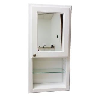 36-inch Regal Series On-the-wall Cabinet and Shelf with Mirror Door