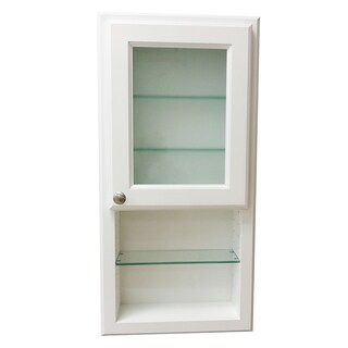 36-inch Regal Series On-the-wall Cabinet and Shelf with Frosted Glass Door