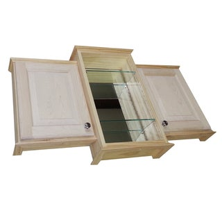 18 x 24 x 18-inch Ashley Triple Series On-the-wall Bath Cabinet and 3.5-inch deep Center Mirrored Niche