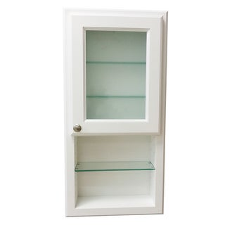 30-inch Regal Series On-the-wall Cabinet and Shelf with Frosted Glass Door