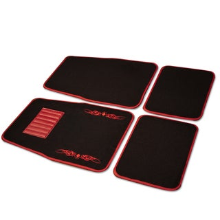 Adeco 4-piece Carpeted Vehicle Floor Mats