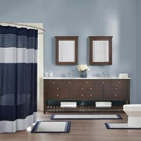 Madison Park Tradewinds Blue Cotton Bath Rug