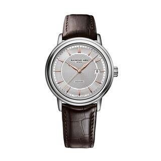 Raymond Weil Men's 2837-SL5-65001 Maestro Leather Automatic Watch