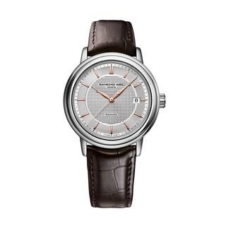 Raymond Weil Men's 2837-SL5-65001 Maestro Leather Automatic Watch https://ak1.ostkcdn.com/images/products/9443887/P16629358.jpg?_ostk_perf_=percv&impolicy=medium