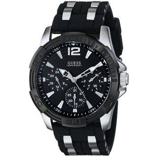 Guess Men's Sport Watch (Black / Silver-Tone)