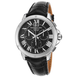 Raymond Weil Men's 4891-STC-00200 Tango Chronograph Black Leather Watch