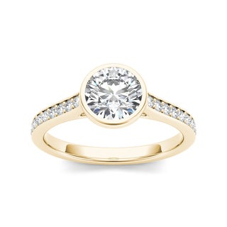 De Couer 14k Yellow Gold 1 1/4ct TDW Diamond Engagement Ring (H-I, I1-I2)