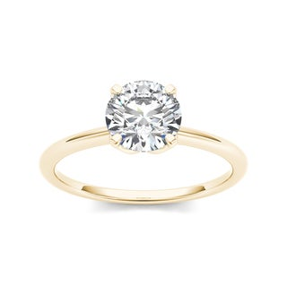 De Couer 14k Yellow Gold 1ct TDW Diamond Solitaire Engagement Ring