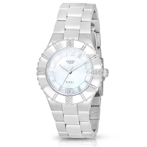 Guess Women Stainless Steel White Crystal dpFWo5bN