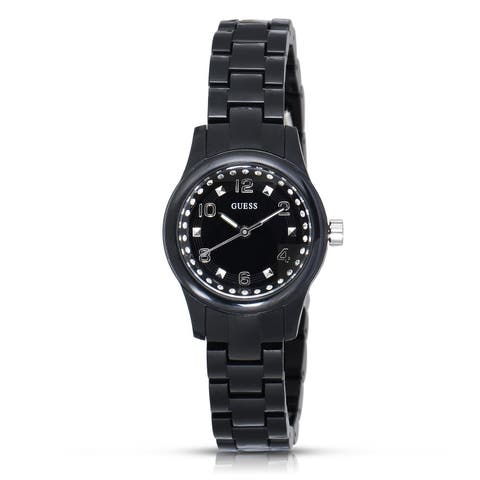 Guess Women's Micro Mini Stainless Steel Black Watch