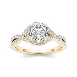 De Couer 14k Yellow Gold 1 1/4ct TDW Diamond Ring