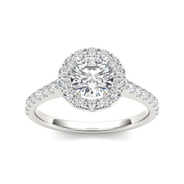 b7f58f4e811 Shop De Couer 14k White Gold 1 1 4ct TDW Diamond Single Frame Ring - Free  Shipping Today - Overstock.com - 9444218