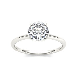 De Couer 14k White Gold 1ct TDW Diamond Solitaire Engagement Ring