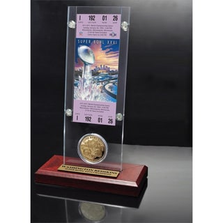 NFL Super Bowl 26 Ticket and Game Coin Collection