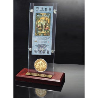 NFL Super Bowl 33 Ticket and Game Coin Collection