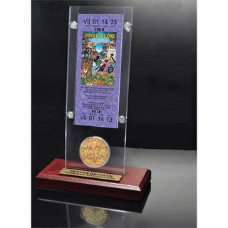 NFL Super Bowl 32 Ticket and Game Coin Collection