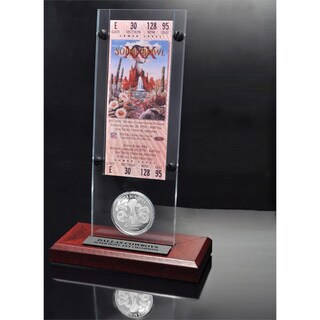 NFL Super Bowl 30 Ticket and Game Coin Collection