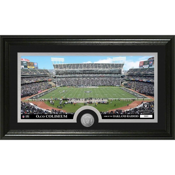 NFL Oakland Raiders 'Stadium' Minted Coin Panoramic Photo Mint
