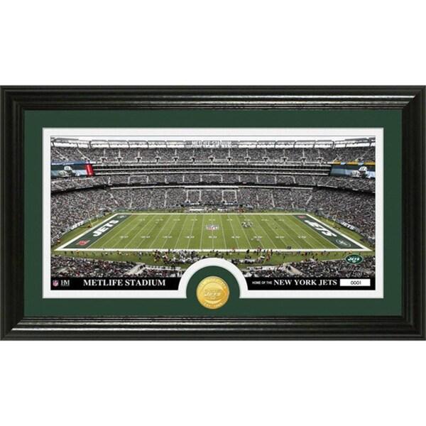 NFL New York Jets 'Stadium' Bronze Coin Panoramic Photo Mint